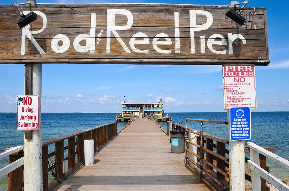fishing on anna maria island rod & reel pier