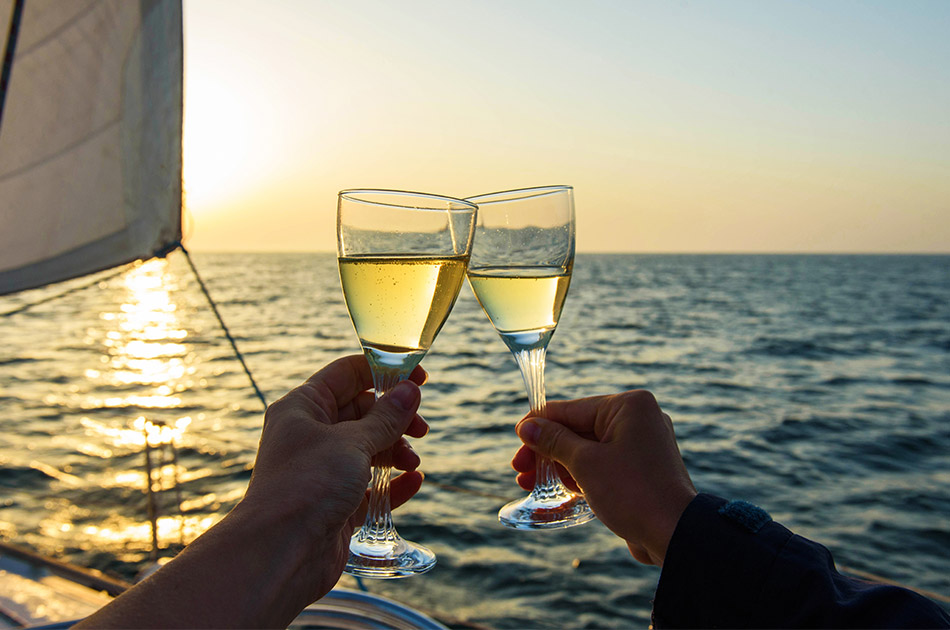 romantic sunset cruise anna maria island with champagne