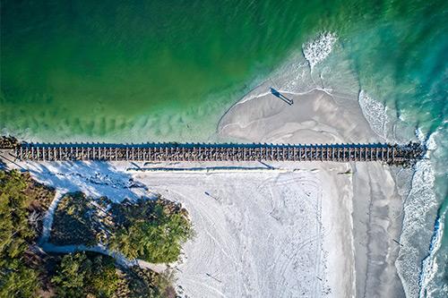 beaches on anna maria island coquina beach south end