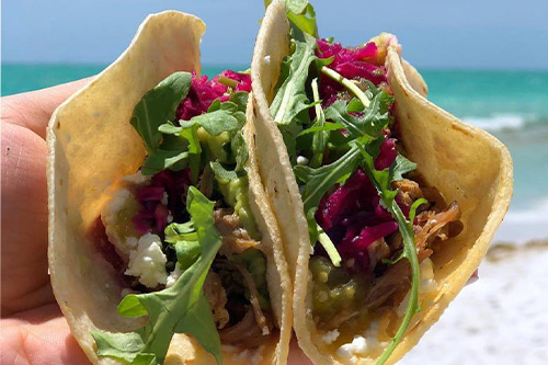 quick healthy food on anna maria island poppos tacos
