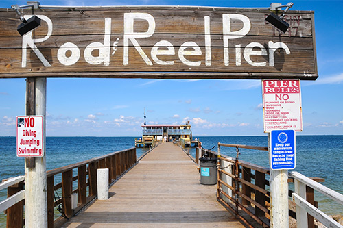 rod and reel pier on anna maria island north end