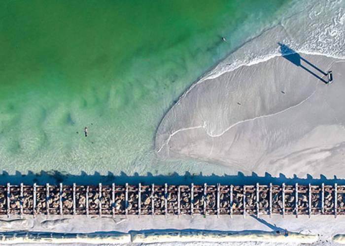 coquina beach on the south end of anna maria island